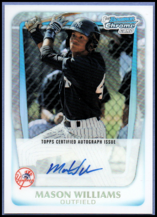 2011 Bowman Chrome Prospect Autographs Refractors #BCP85 Mason Williams