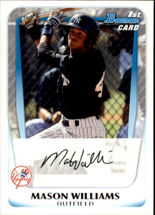 2011 Bowman Prospects #BP85 Mason Williams