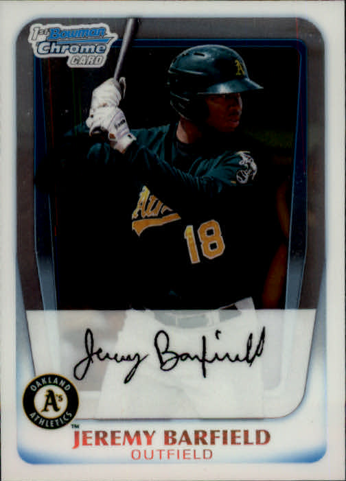 2011 Bowman Chrome Prospects #BCP3 Jeremy Barfield