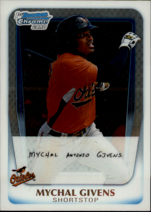 2011 Bowman Chrome Prospects #BCP50 Mychal Givens