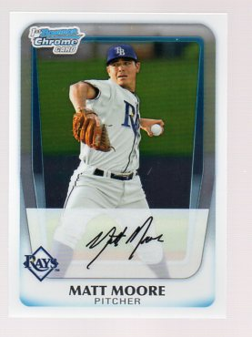 2011 Bowman Chrome Prospects #BCP220 Matt Moore