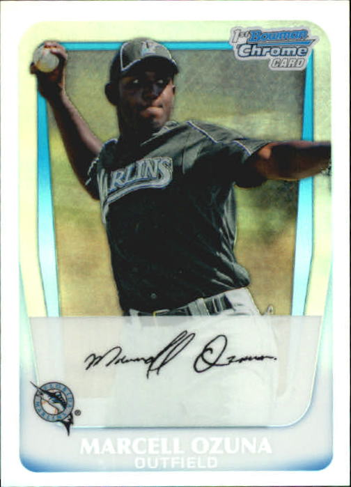 2011 Bowman Chrome Prospects Refractors #BCP36 Marcell Ozuna