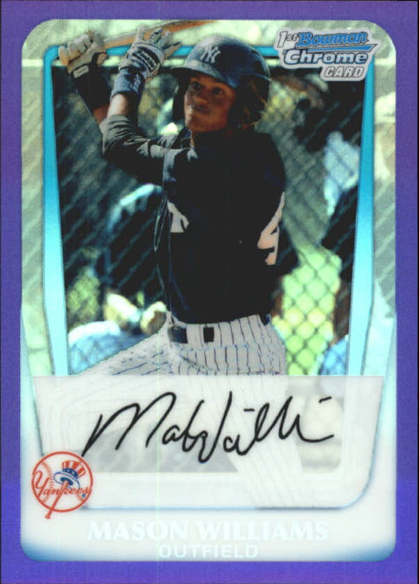 2011 Bowman Chrome Prospects Purple Refractors #BCP85 Mason Williams