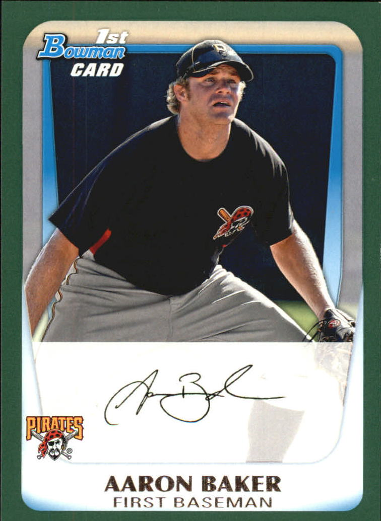2011 Bowman Prospects Green #BP39 Aaron Baker