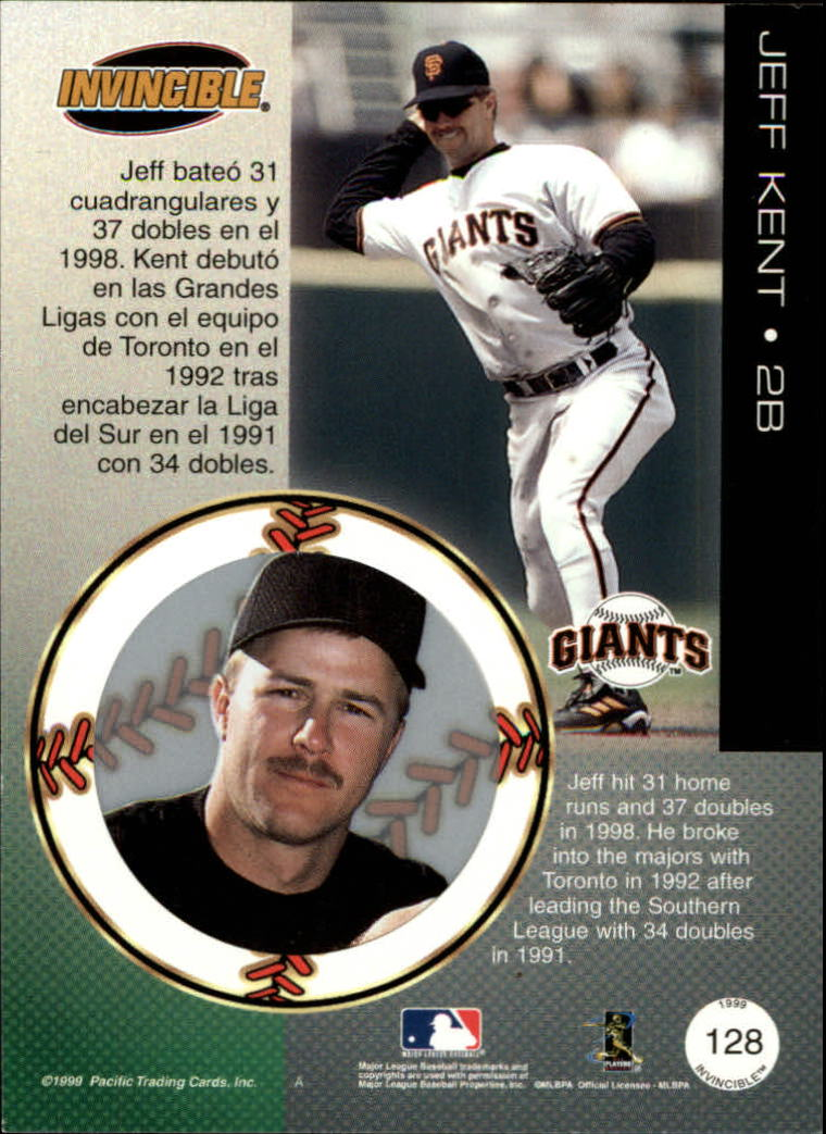 1999 Pacific Invincible Red #128 Jeff Kent
