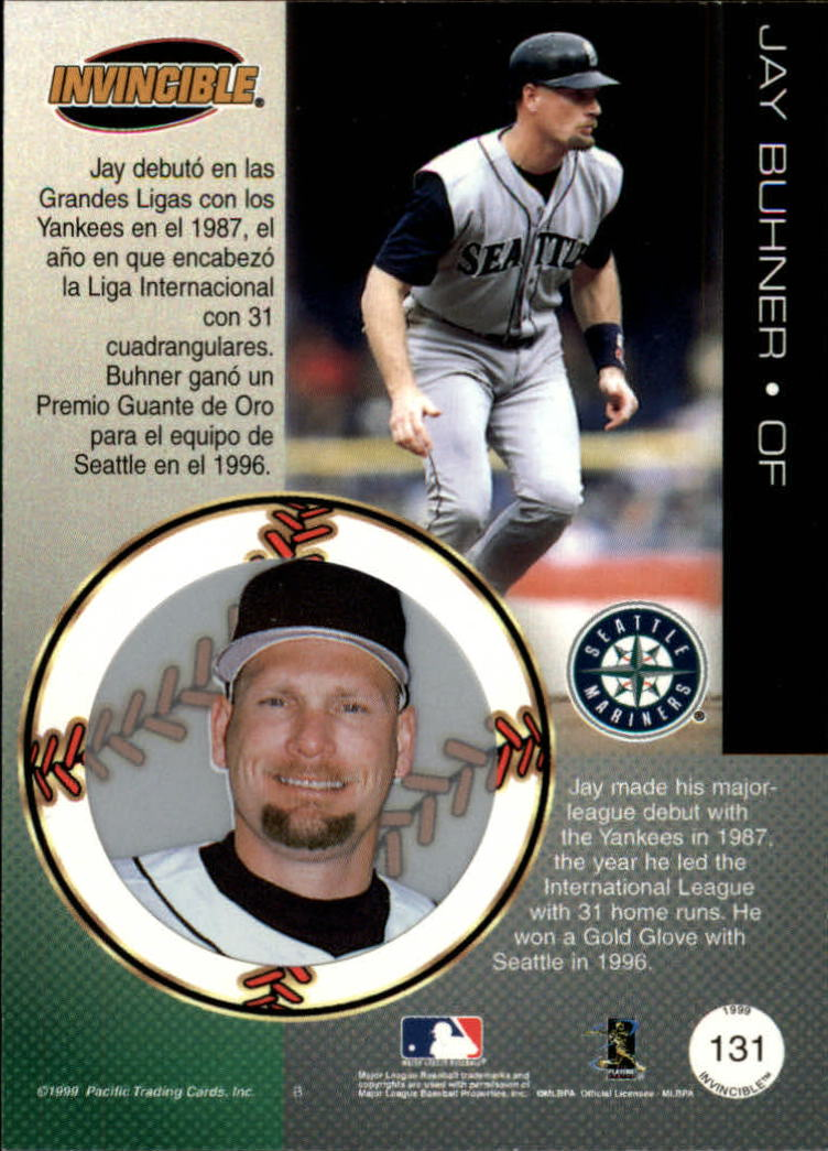 1999 Pacific Invincible Red #131 Jay Buhner
