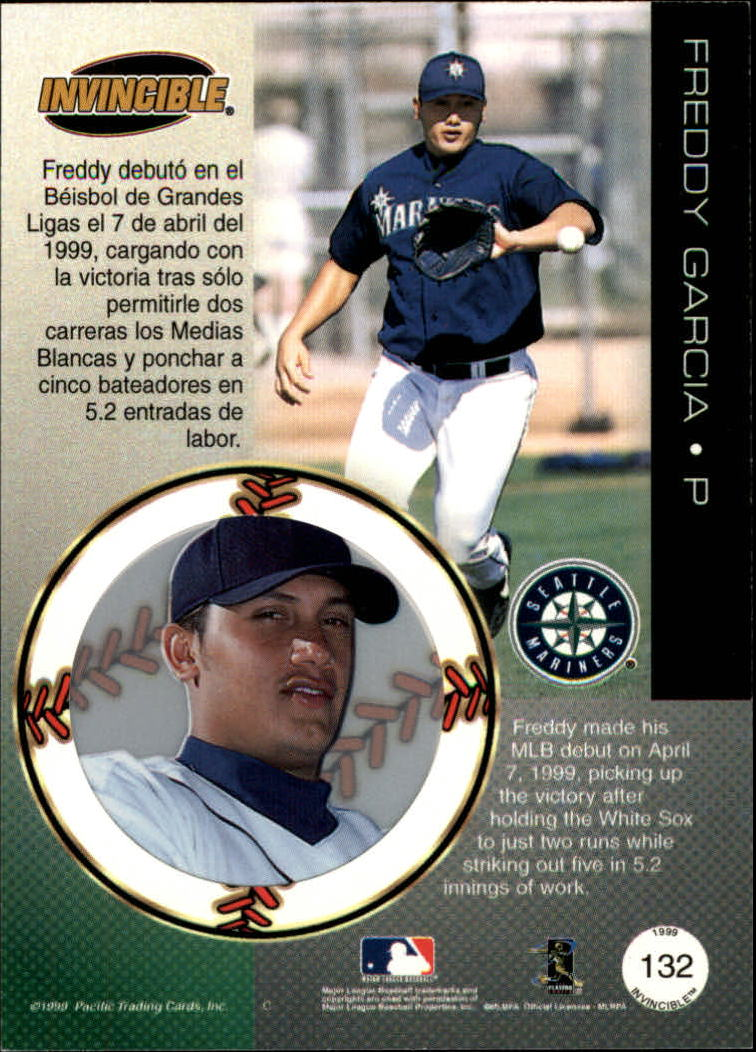 1999 Pacific Invincible Red #132 Freddy Garcia
