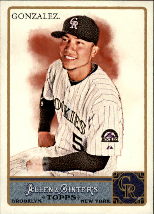 2011 Topps Allen and Ginter #1 Carlos Gonzalez