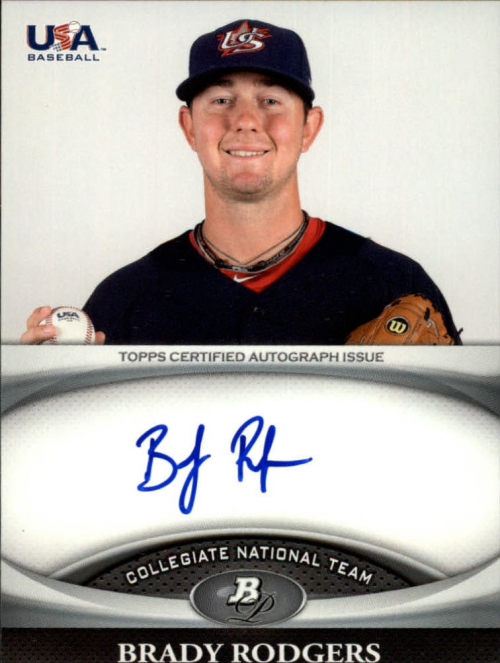 2011 Bowman Platinum Team USA National Team Autographs #BR Brady Rodgers