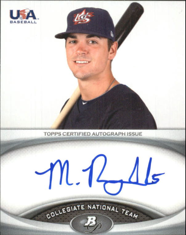 2011 Bowman Platinum Team USA National Team Autographs #MR Matt Reynolds