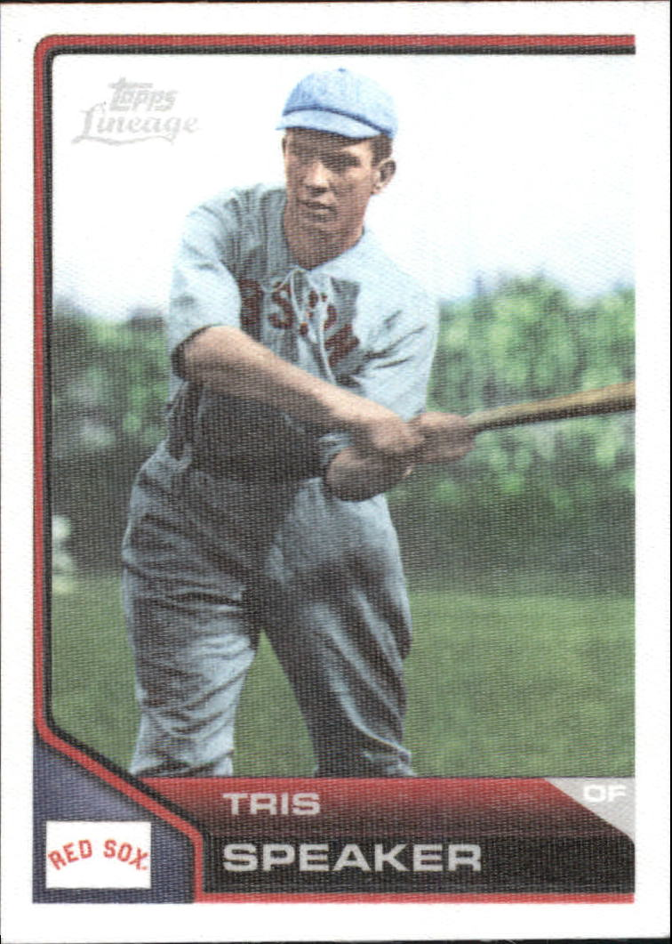 2011 Topps Lineage Cloth Stickers #TCS27 Tris Speaker