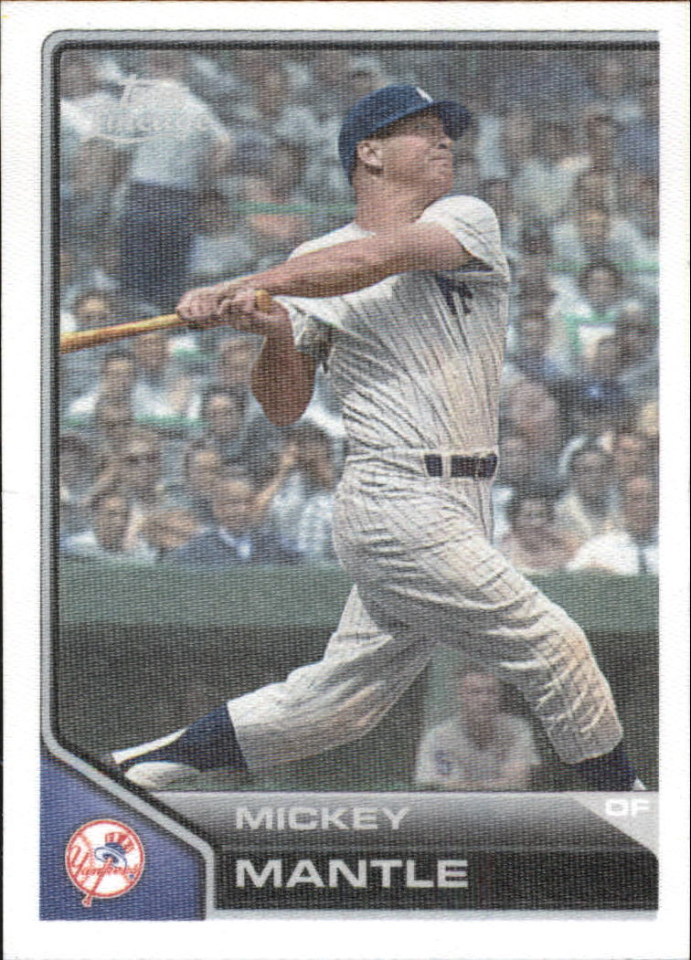 2011 Topps Lineage Cloth Stickers #TCS5 Mickey Mantle