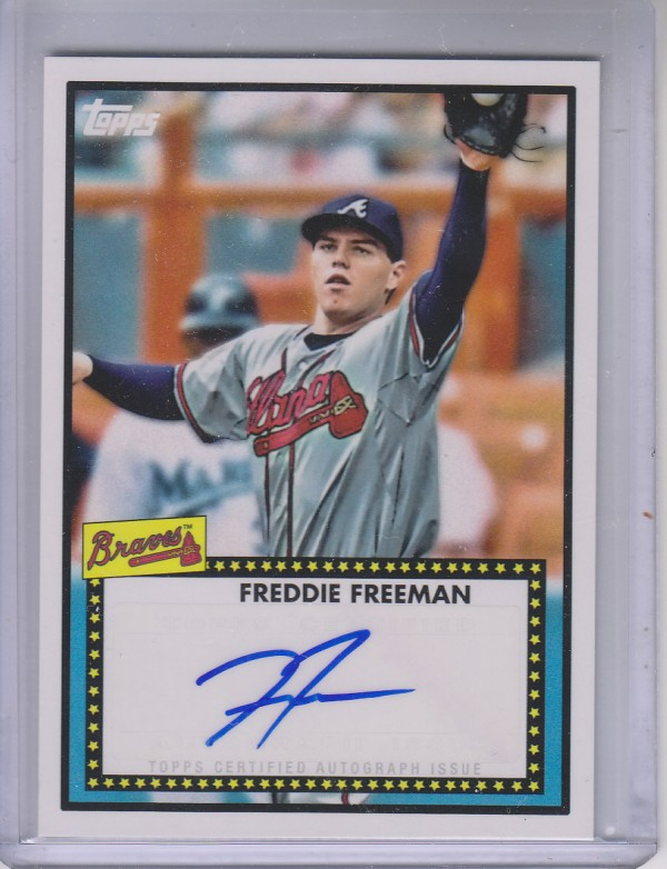 2011 Topps Lineage 1952 Autographs #52AFF Freddie Freeman