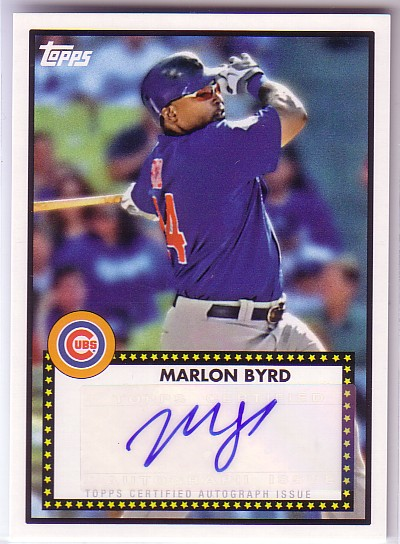 2011 Topps Lineage 1952 Autographs #52AMBY Marlon Byrd