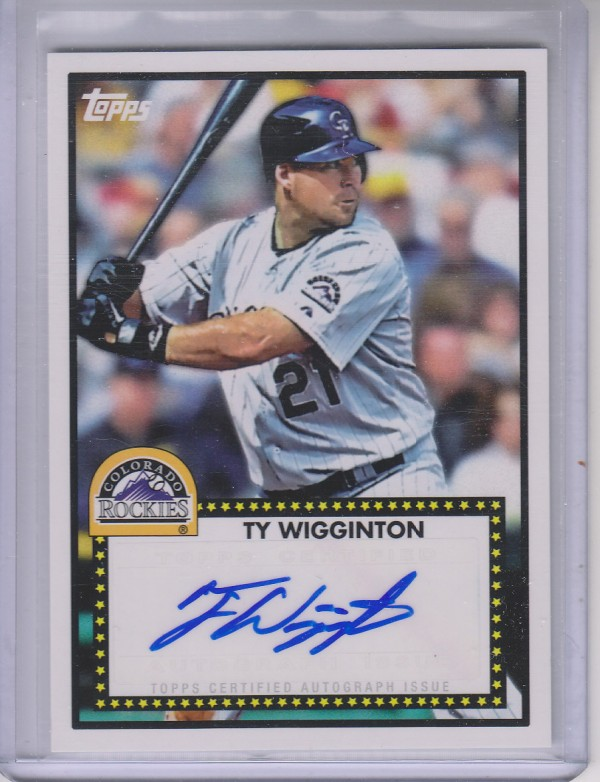 2011 Topps Lineage 1952 Autographs #52ATW Ty Wigginton