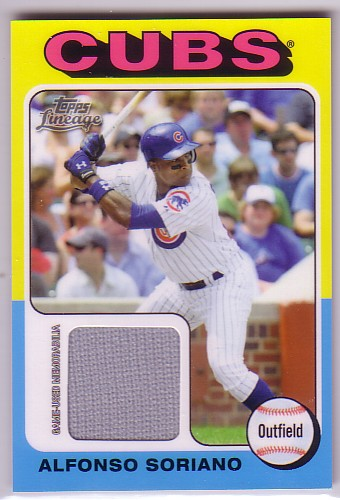 2011 Topps Lineage 1975 Mini Relics #AS Alfonso Soriano