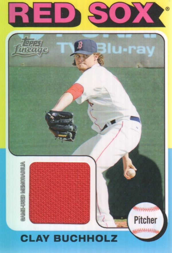 2011 Topps Lineage 1975 Mini Relics #CBU Clay Buchholz