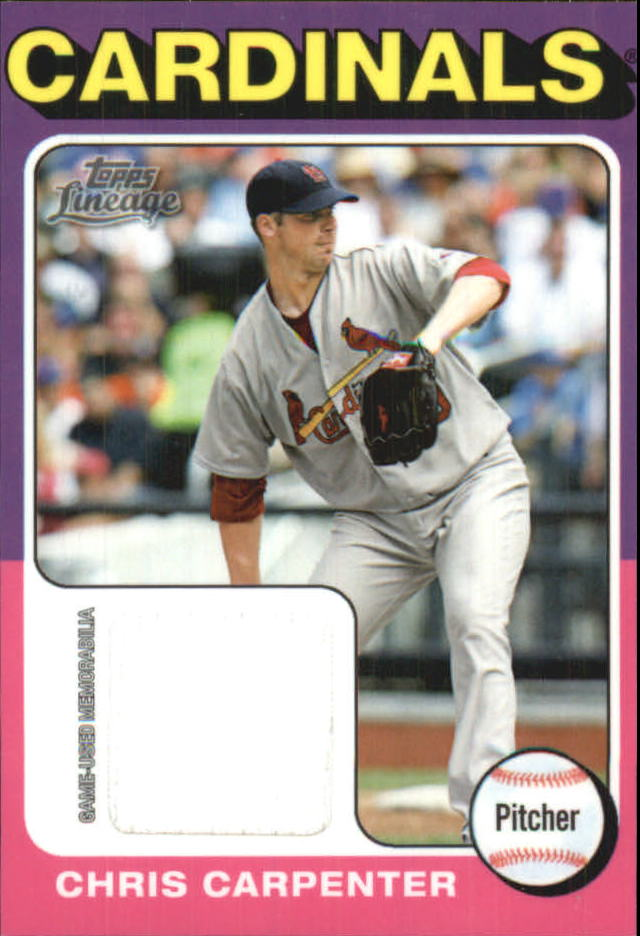 2011 Topps Lineage 1975 Mini Relics #CC Chris Carpenter