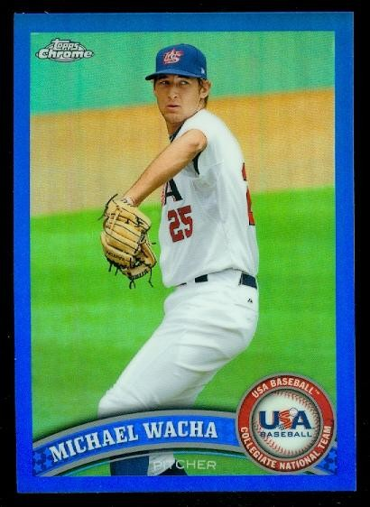 2011 Topps Chrome USA Baseball Blue Refractors #USABB21 Michael Wacha