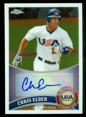 2011 Topps Chrome USA Baseball Autographs #USABB4 Chris Elder
