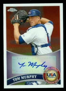 2011 Topps Chrome USA Baseball Autographs #USABB16 Tom Murphy