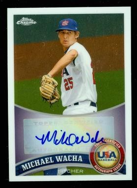 2011 Topps Chrome USA Baseball Autographs #USABB21 Michael Wacha