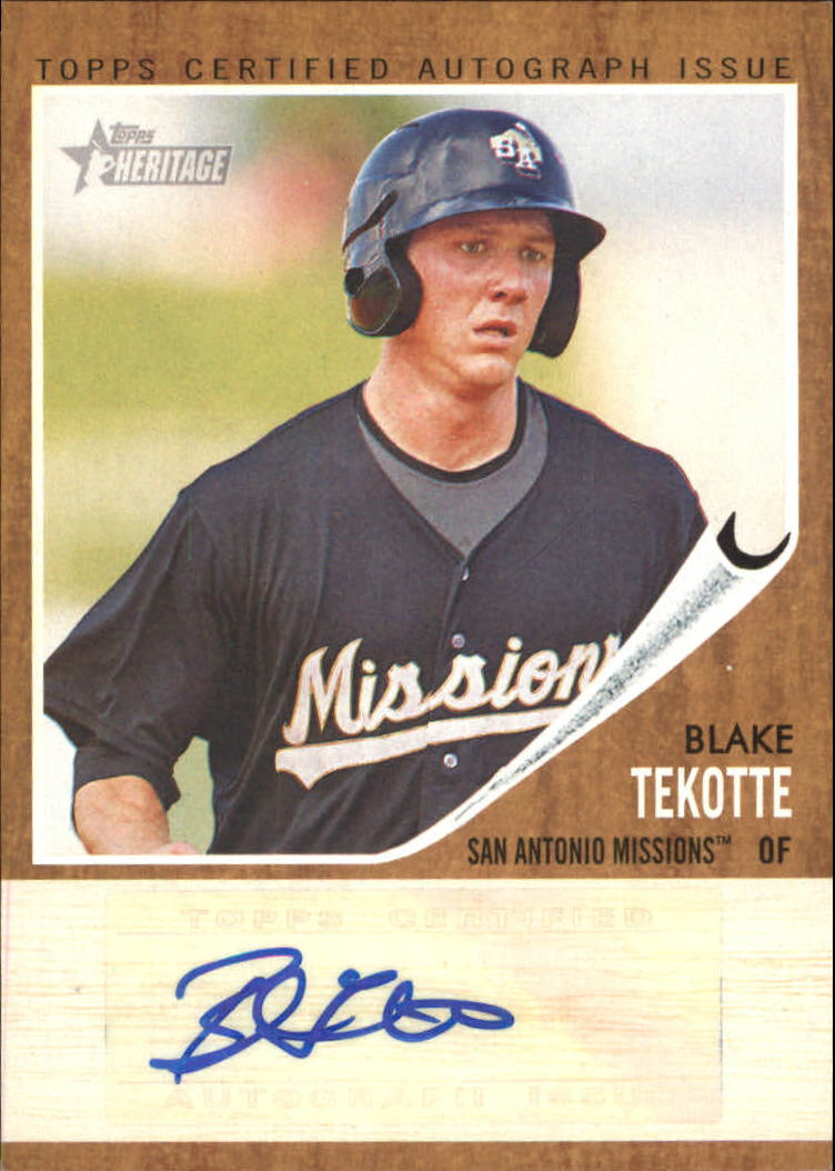 2011 Topps Heritage Minors Real One Autographs #BT Blake Tekotte