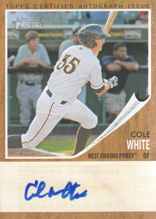 2011 Topps Heritage Minors Real One Autographs #CW Cole White