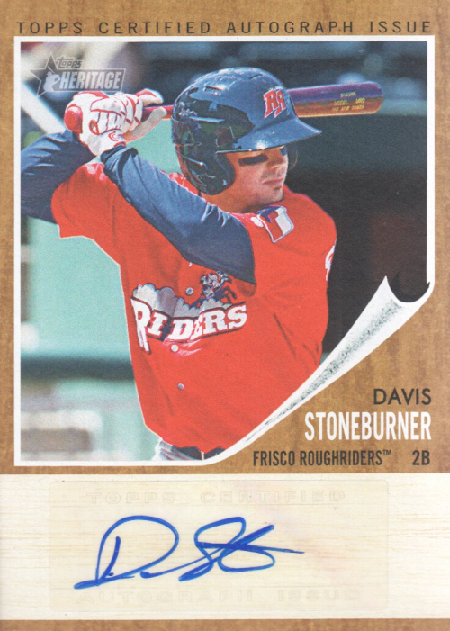 2011 Topps Heritage Minors Real One Autographs #DS Davis Stoneburner