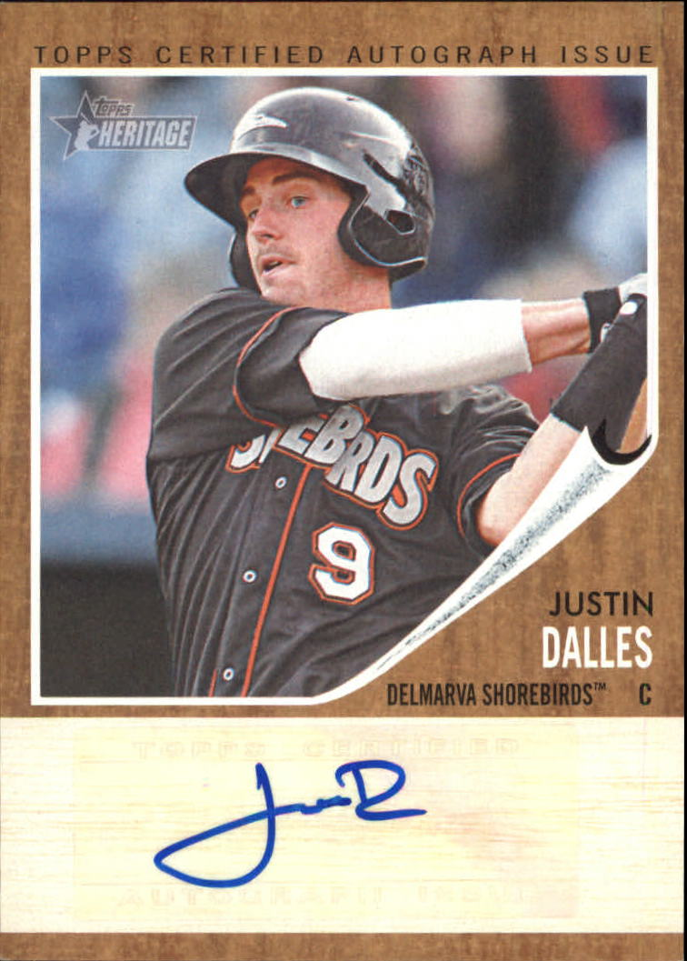 2011 Topps Heritage Minors Real One Autographs #JD Justin Dalles
