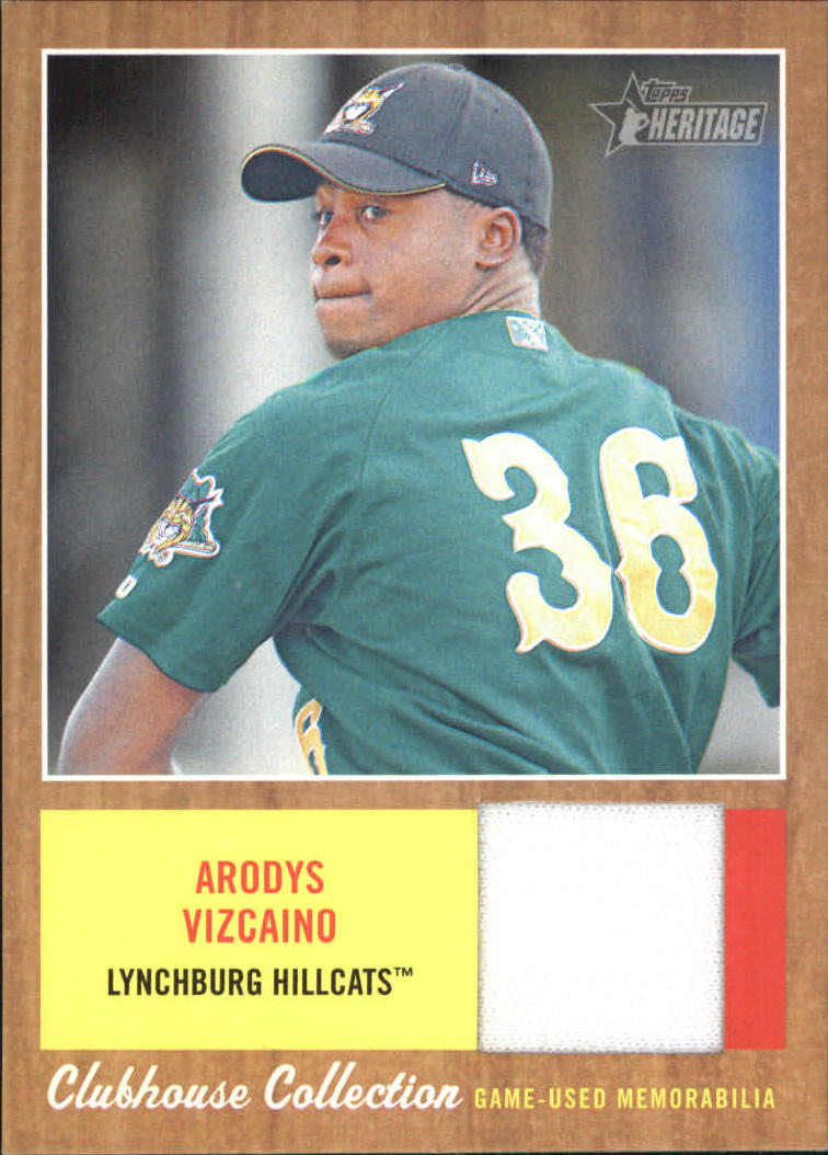 2011 Topps Heritage Minors Clubhouse Collection Relics #AV Arodys Vizcaino