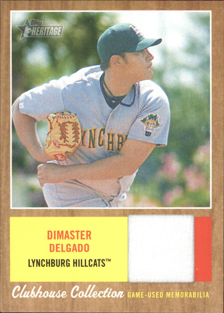 2011 Topps Heritage Minors Clubhouse Collection Relics #DD Dimaster Delgado