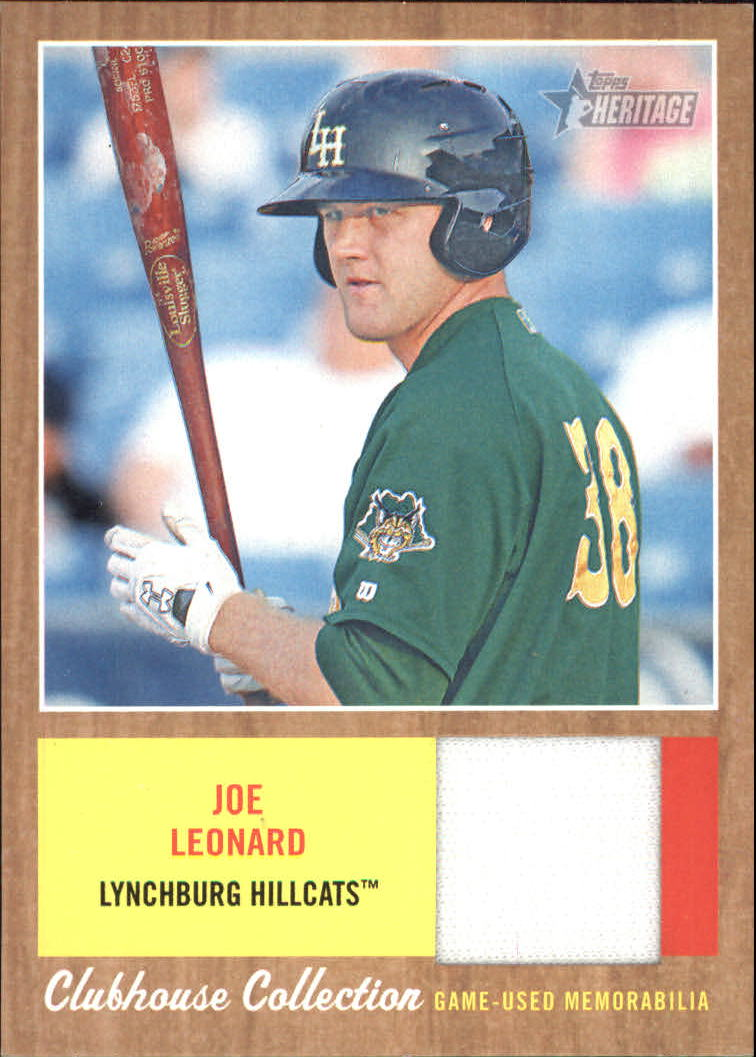 2011 Topps Heritage Minors Clubhouse Collection Relics #JL Joe Leonard