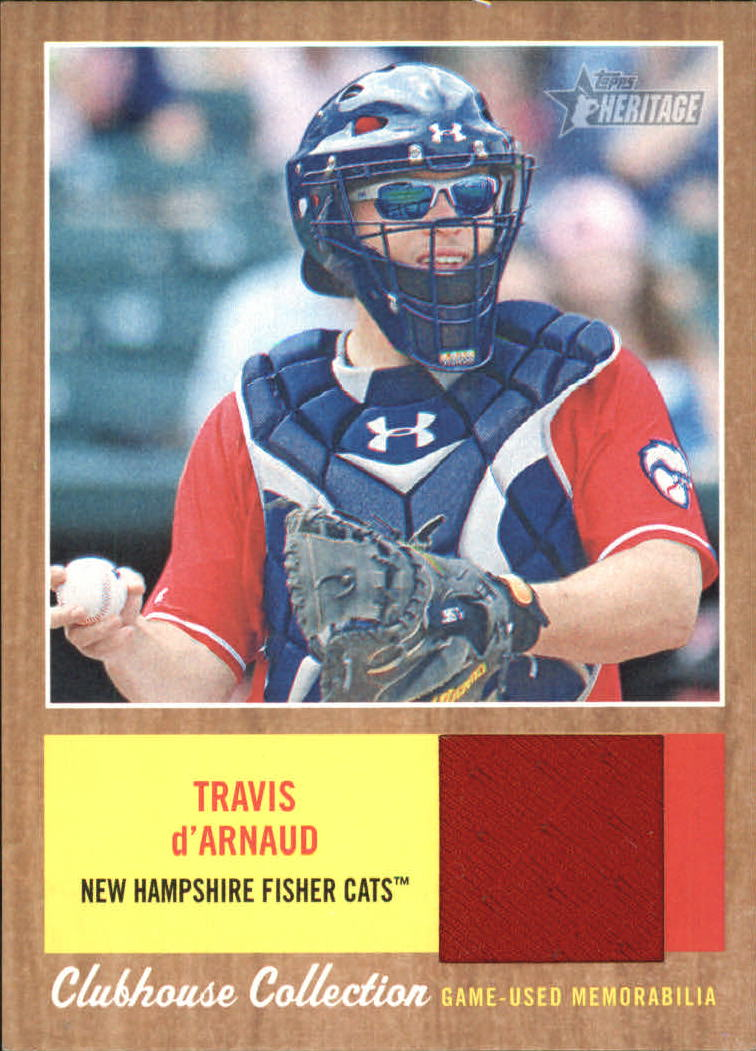 2011 Topps Heritage Minors Clubhouse Collection Relics #TD Travis D'Arnaud