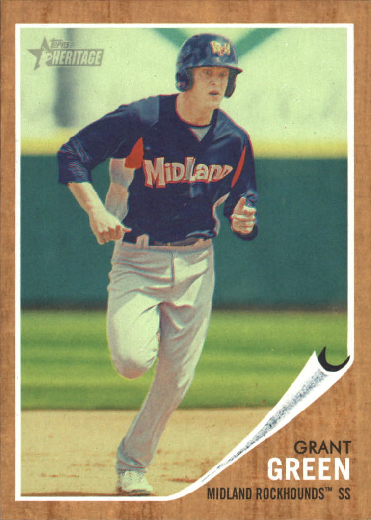 2011 Topps Heritage Minors Green Tint #15 Grant Green