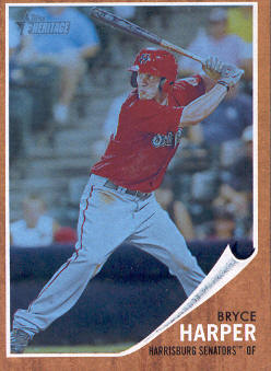 2011 Topps Heritage Minors Blue Tint #16 Bryce Harper