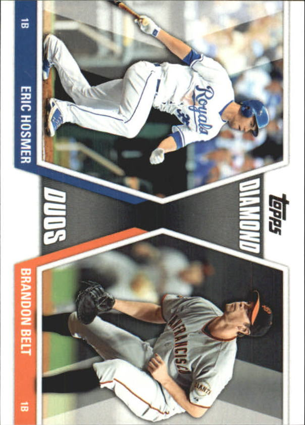 2011 Topps Update Diamond Duos #DD5 Eric Hosmer/Brandon Belt