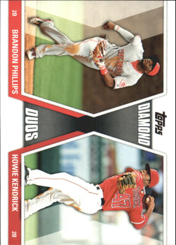 2011 Topps Update Diamond Duos #DD28 Brandon Phillips/Howie Kendrick