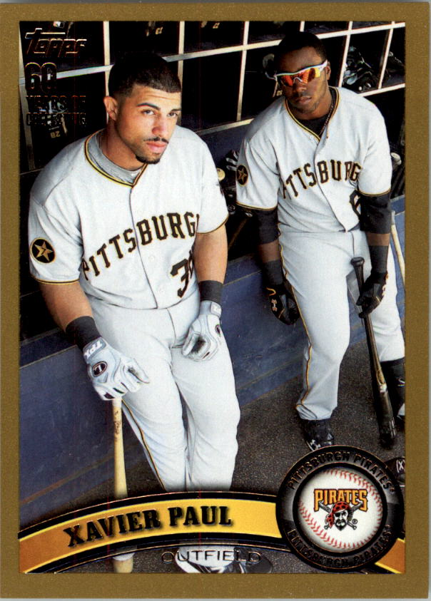 2011 Topps Update Gold #US124 Xavier Paul