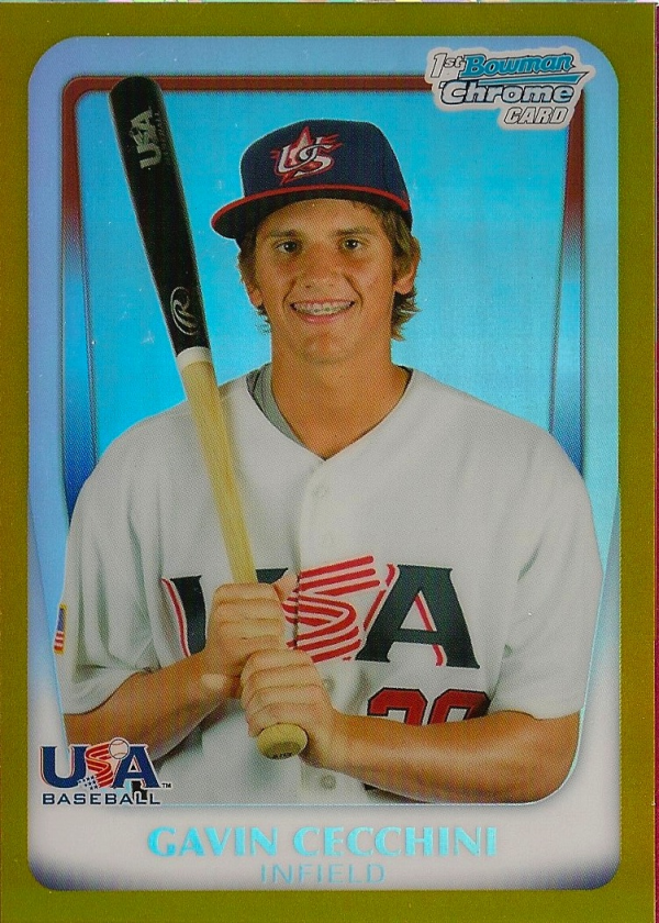 2011 Bowman Chrome 18U USA National Team Gold Refractors #18U3 Gavin Cecchini