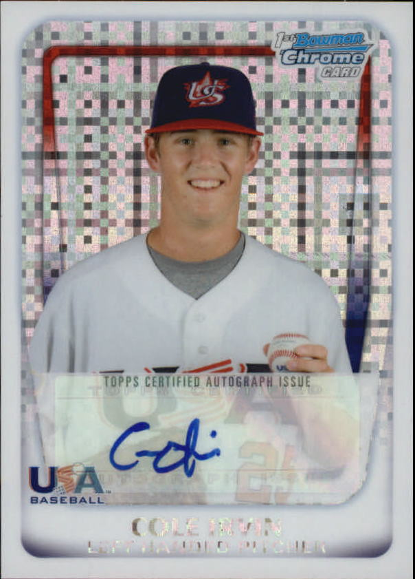2011 Bowman Chrome 18U USA National Team Autographs X-Fractors #18U13 Cole Irvin