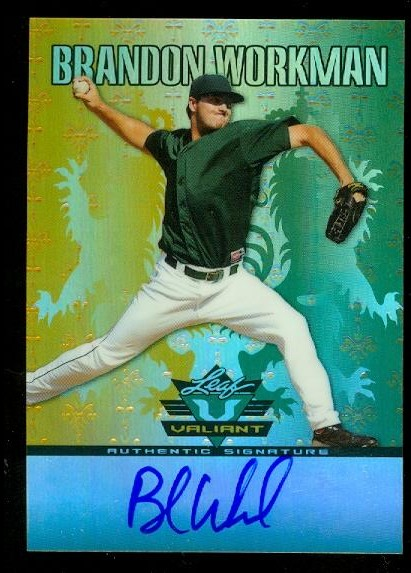 2011 Leaf Valiant Draft #BW1 Brandon Workman
