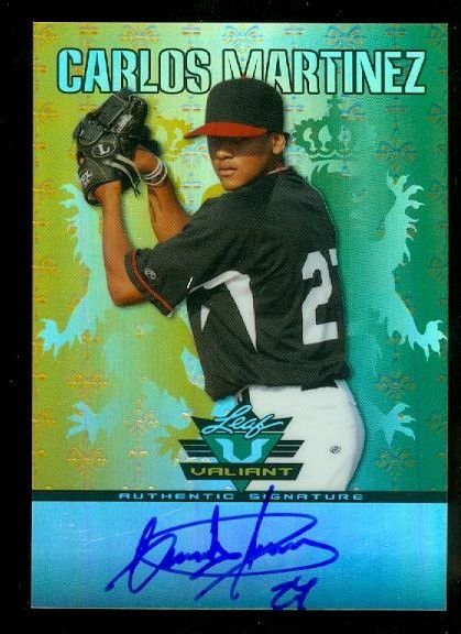 2011 Leaf Valiant Draft #CM1 Carlos Martinez