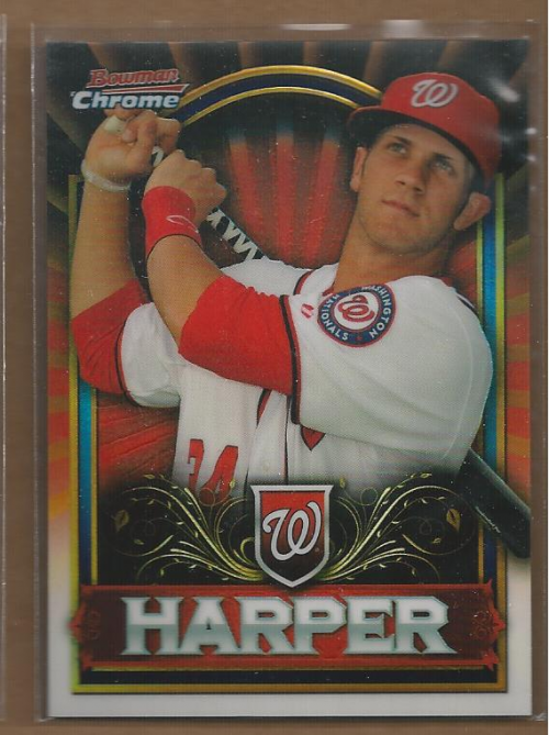 2011 Bowman Chrome Bryce Harper Retail Exclusive #BCE1R Bryce Harper Red