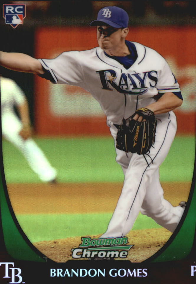 2011 Bowman Chrome Draft Refractors #41 Brandon Gomes