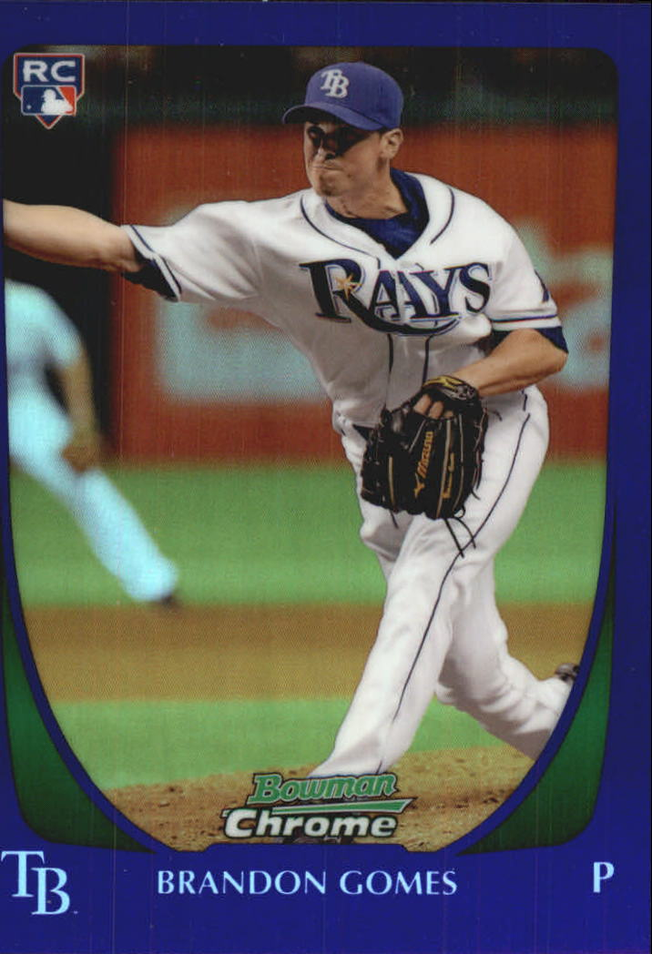 2011 Bowman Chrome Draft Purple Refractors #41 Brandon Gomes