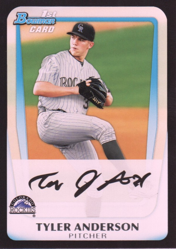 2011 Bowman Draft Prospects #BDPP3 Tyler Anderson
