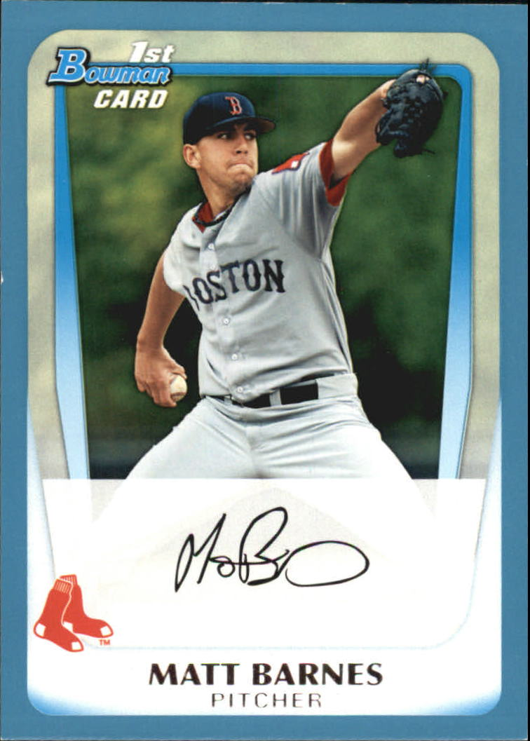 2011 Bowman Draft Prospects Blue #BDPP8 Matt Barnes