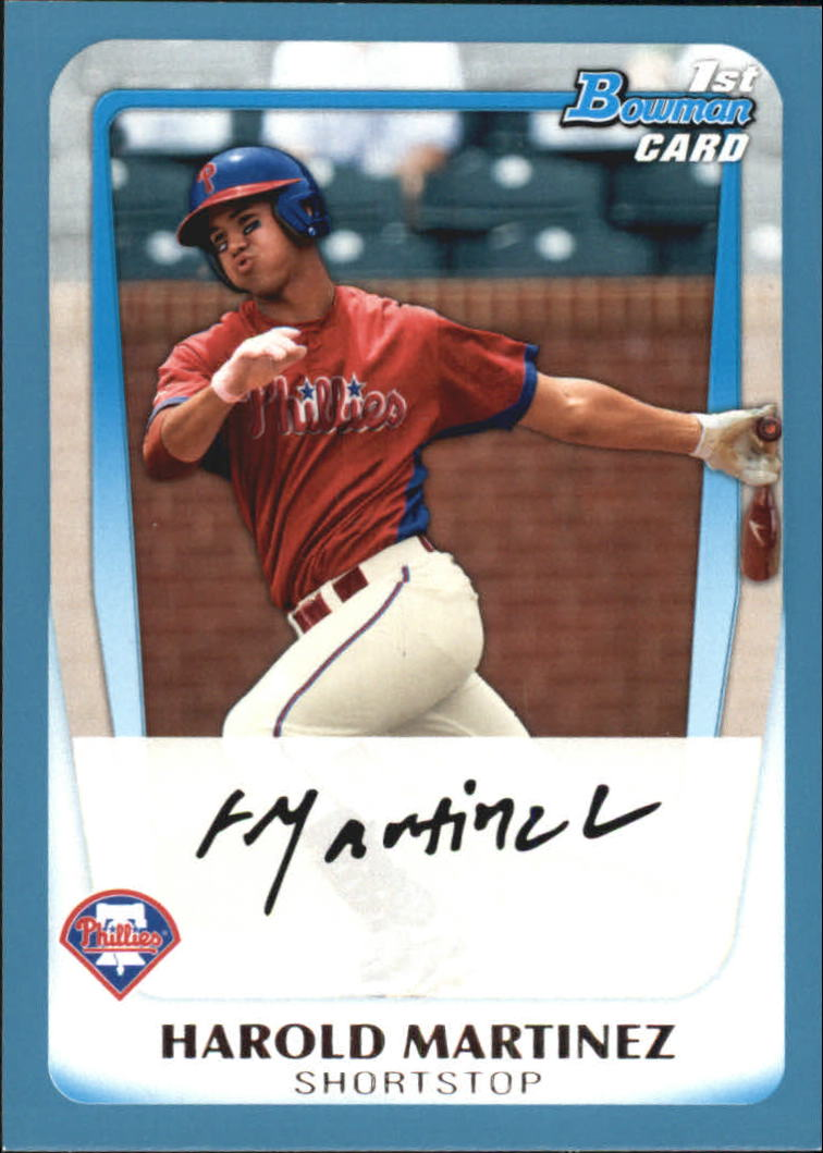 2011 Bowman Draft Prospects Blue #BDPP19 Harold Martinez