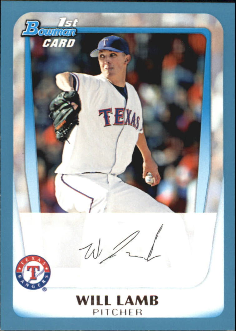 2011 Bowman Draft Prospects Blue #BDPP20 Will Lamb
